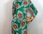 Vintage 1970s Designer Saul Villa ABSTRACT Sun Flower GaLerie ITALY Dress MINT S