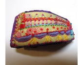 Happy Hand Embroidered Recycled Organic Cuff