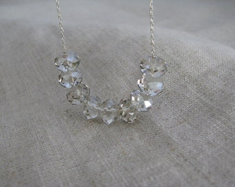 Carrie Necklace Sterling Silver SHADED Swarovski Crystal