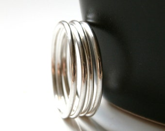 Sterling Silver Stack Band Ring, Custom Stack Ring, Smooth Stack Ring, One Stack Ring