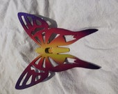 Bright yellow, purple and pink Butterfly Garden Stake