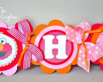 Elmo Happy Birthday Banner, Elmo Birthday Party, Elmo Birthday Party decorations