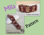 Tutorial Mila SuperDuo&Stairway beads Bracelet PDF