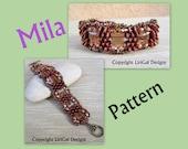 Tutorial Mila SuperDuo&Stairway beads Bracelet PDF