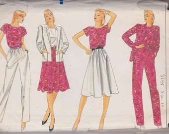 Vogue 8045 Misses' Jacket, Top, Skirt and Pants Size 10 Vintage UNCUT Pattern Rare and OOP Summer Wardrobe