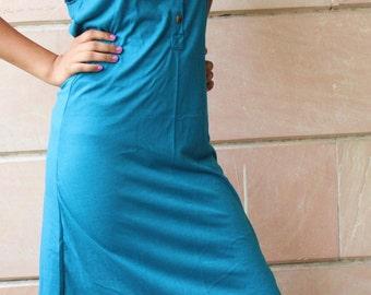 Turquoise Blue Easy Breezy Sleeveless Dress
