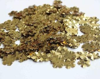 75 Metallic Golden Flower Sequins/KBBF462
