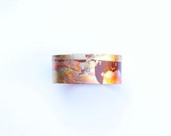 Thin Gold Orange Cuff