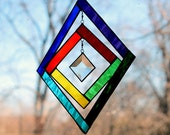 Colorful 3D Stained Glass Spinner