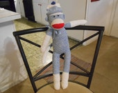 Special Sale Sock Monkey Blue  Rockford Red Heel Classic New Original Will Personalize