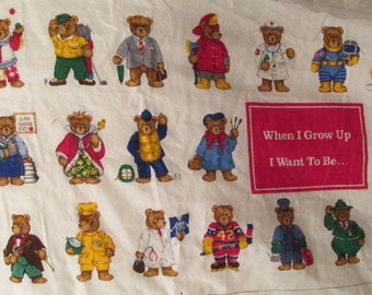 Sewing Panel Fabric Childrens book - When I Grow Up SALE