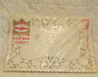Mid Century Paper Lace Place Mats by Roylies 30 plus SALE