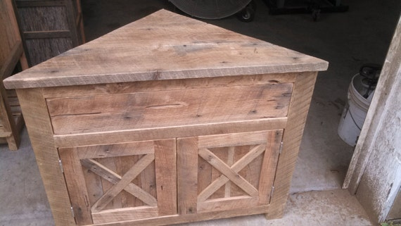 Items Similar To YOUR Rustic Barn Wood Traningle Vanity Or