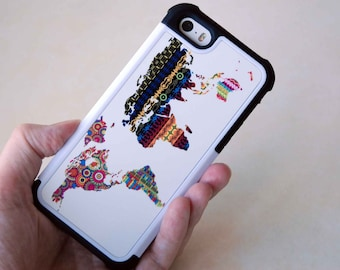 Cool World Map Phone Case, iPhone 5s Cases, iPhone 5c Cases, Phone Cases, iPhone 5 Cases, iPhone 4 Cases, iPhone 4s Cases, iPhone 5s Covers