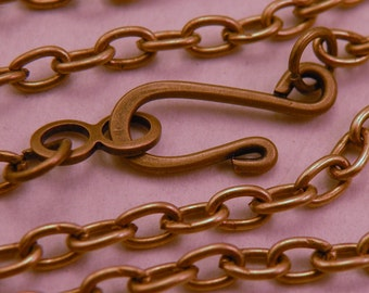 Your Choice Vintage Style Chain with Hook and Eye Clasp