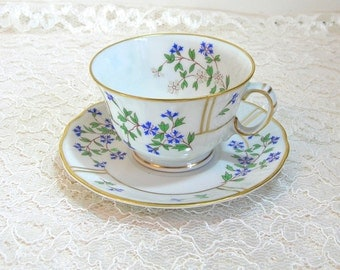 Limoges L. Bernardaud Bleuets Teacup And Saucer