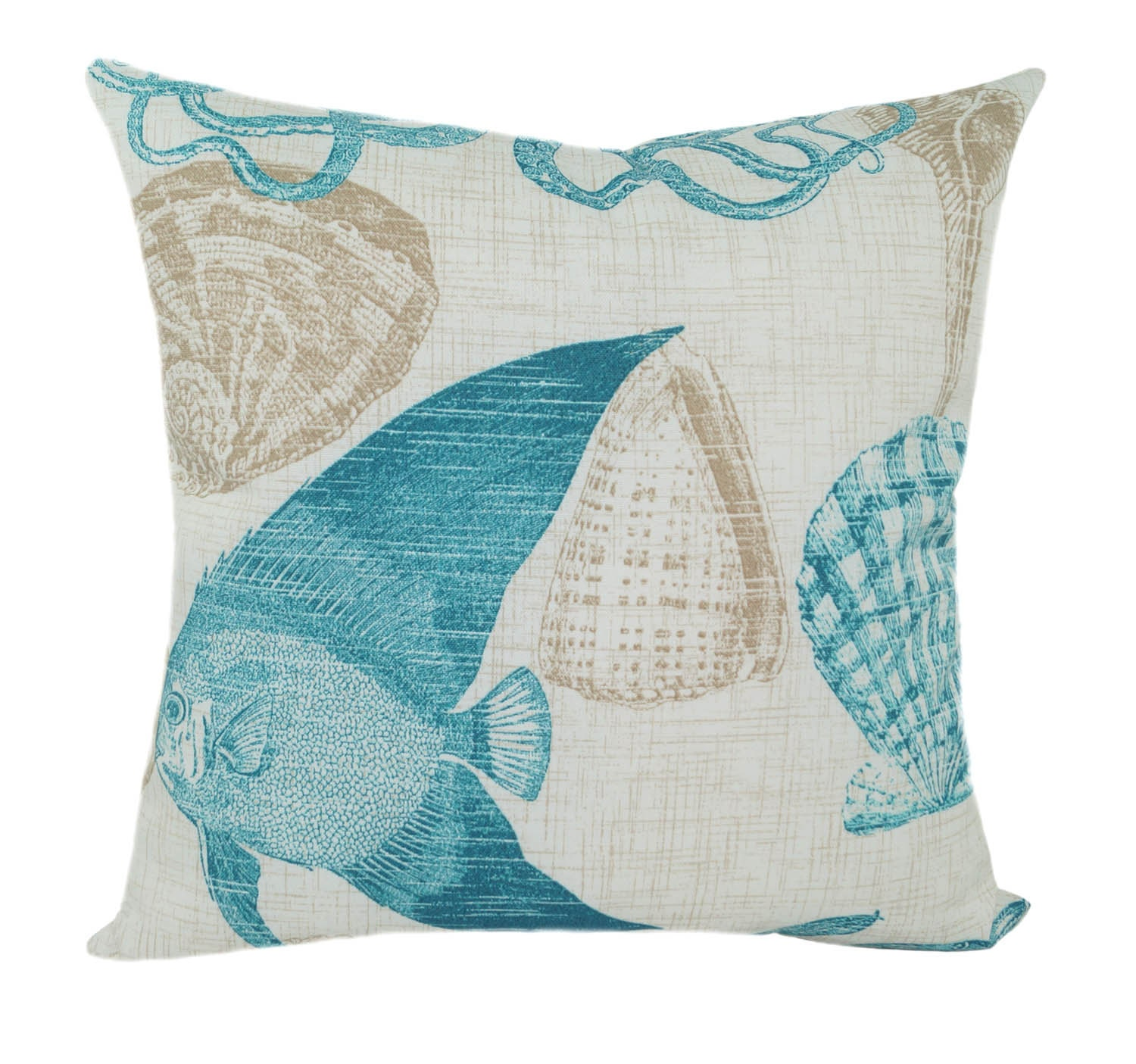 SALE Richloom Sea Life Nautical Outdoor Throw Pillow in
