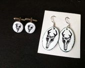 Reserve: Skull Earrings and Cufflinks for Adam