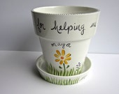 teacher gift / special person personalized ceramic flower pot