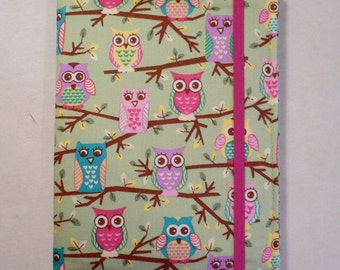 Kindle Cover Hardcover, Kindle Case, eReader, Kobo, Nook, Nexus 7, Kindle Fire HDX, Kindle Paperwhite, Nook GlowLight  Owls on Trees