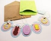 Easter Banner Greeting Card Handmade Keepsake QueenBeeInspirations
