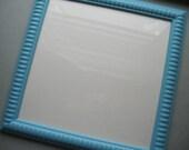 Aqua Blue Decorative Frame 10x10