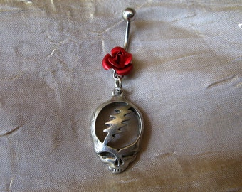 It must have been the roses grateful dead stealie belly ring