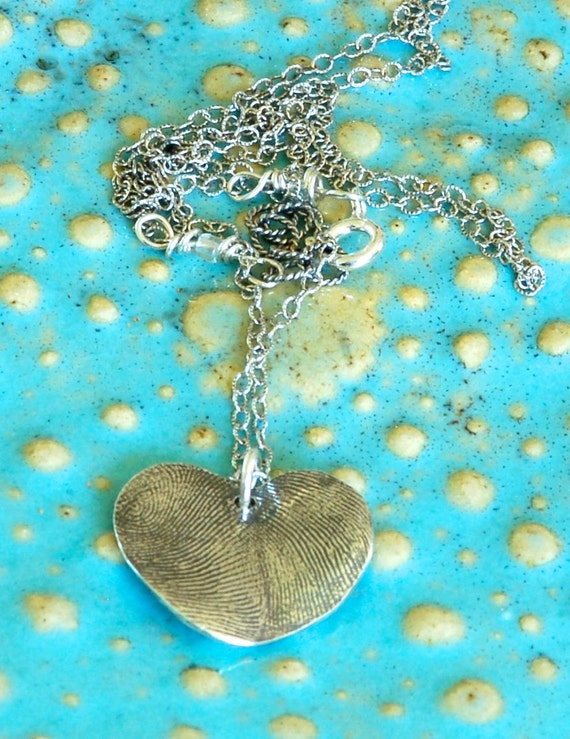 Mother's Day Gift - Fingerprint Necklace- Dad and Child, Brother and Sister