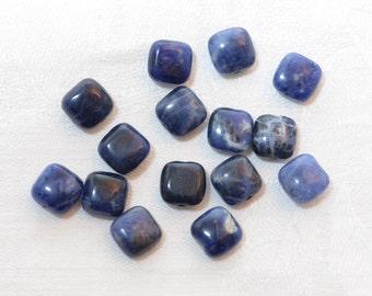 15 Sodalite Pillow Beads