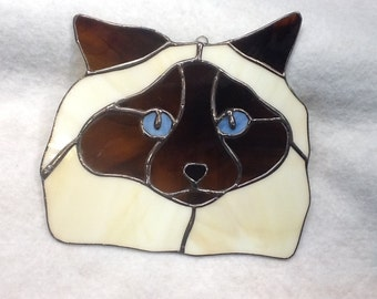 Himalayan Cat Stained Glass Sun Catcher