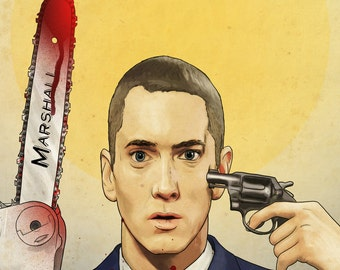 Music to be Murdered By - Eminem Print