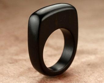 Size 6.75 - Ebony Wood Ring No. 158