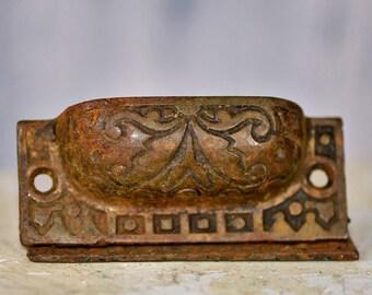 antique drawer handle...  vintage hardware...  home decor... p3-3 L