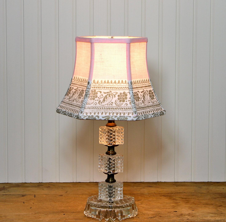 Vintage Lamp Shades: Pink Lamp Shade Lampshades Shabby Chic Vintage By Sassyshades