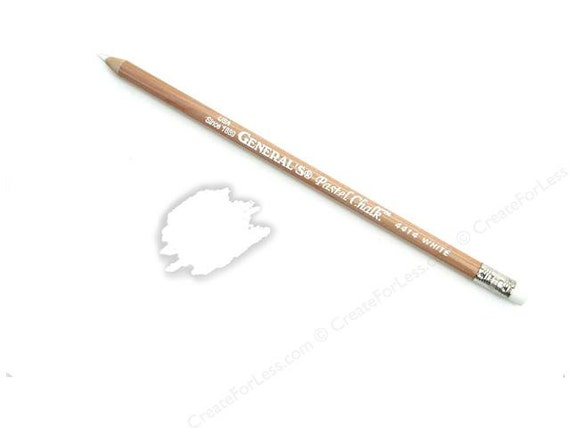 White Chalk Pencil, Great for smaller Chalk Labels, Acid Free Chalk Pencil