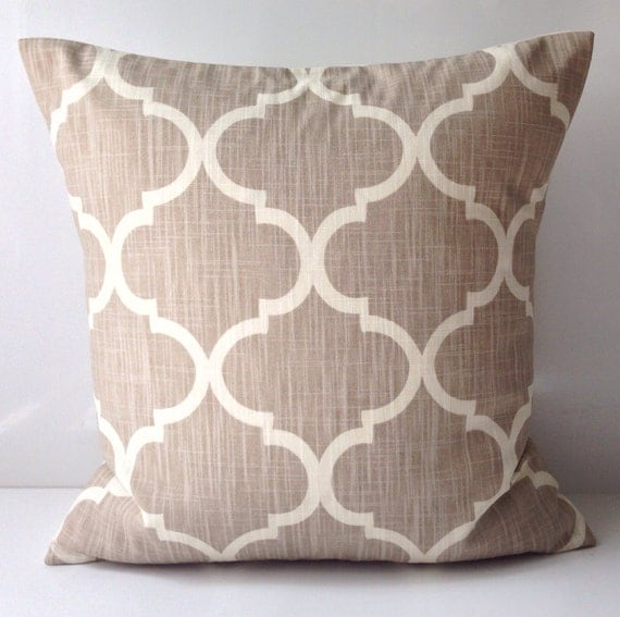 Cute Neutral Throw Pillows : Items similar to Decorative Throw Pillow Cover Neutral Pillow Cushion Accent Pillow Taupe Pillow ...