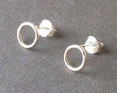 Tiny Sterling Open Circle Post Earrings - Back to Basics
