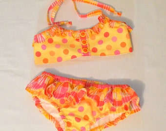 Girls Bikini Bathing Suit PDF Sewing Pattern