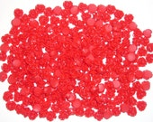 Red Rose Cabochons with flat backs 10mm (pack of fifty)