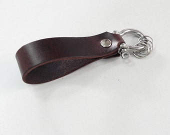 Brown Leather Key Fob Leather Key Chain Leather Key Ring Key Holder
