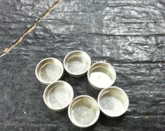 Bezel Cup Fine Silver 6mm
