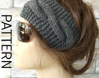 Hippie Headband Knitting Pattern : Boho Headband Etsy Studio
