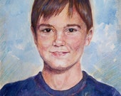 Commission for Maha - Custom watercolor portrait, original painting,child,Cathy Darling, Catherine Darling Hostetter,