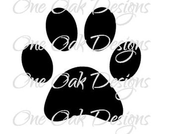 Paw Print SVG / PDF / ai / eps / jpg / png / dxf / SVG File for Cricut / svg File for Cameo, Cricut, and other Electronic Cutting Machines