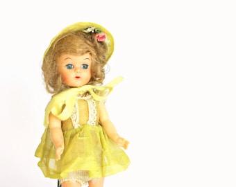 Vintage Ginny Type Doll Hard Plastic Walker