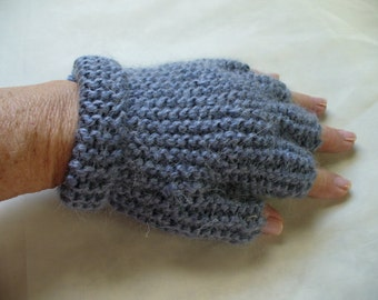 Half Fingered Gloves in Grey