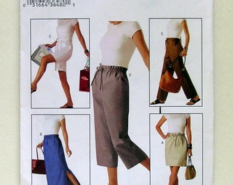 Ladies' Skirts, Shorts, and Slacks - Butterick 3839 - Out-of-Print Pattern, Sizes XS, S, M