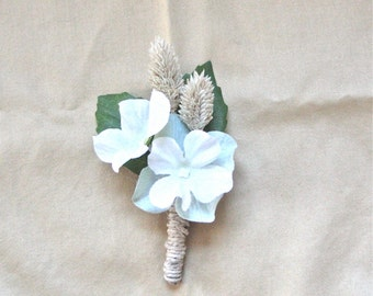 Dried Grass and Flower Boutonniere