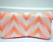 Coupon Organizer Cash Budget Organizer Holder- Attaches to your Shopping Cart - Zig Zag Chevron - Shadow Coral