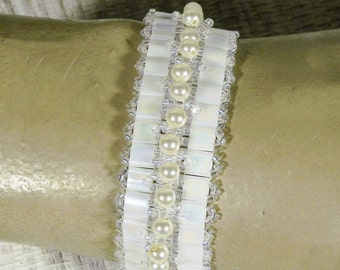 Tila Bead Bracelet - Made to Order - Tila Beads, Swarovski Crystals and Pearls
